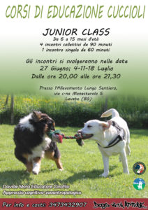 JUNIOR CLASS IN PARTENZA A GIUGNO